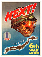 WWII US bond poster japan bomb