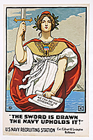 Sword is Dranw Navy WWI poster
