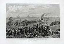 Landing of Troops Roanoke Isl. Burnside Exp. 1862